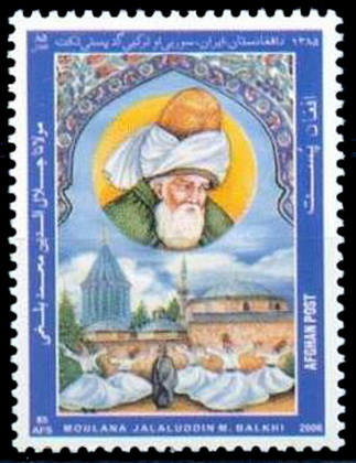 Quelle: Wikimedia  http://de.wikiquote.org/wiki/Datei:Stamp_from_Afghanistan_ honoring_Mawlana_Jalaluddin_ Balkhi_aka_Rumi.jpg