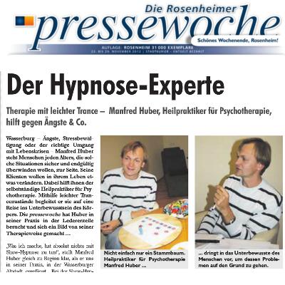 Bild - Der Hypnose Experte Manfred Huber