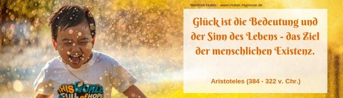 Glückszitat Februar 2020 - Glück ist die Bedeutung und der Sinn des Lebens - das Ziel der menschlichen Existenz. - Aristoteles (384 - 322 v. Chr.)