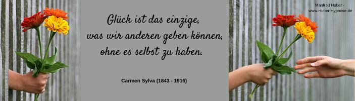 Glückszitat Juli 2020 - Glück ist das einzige, was wir anderen geben können, ohne es selbst zu haben. - Carmen Sylva (1843 - 1916)